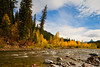 Autumn Colors. stream outside Glacier National Park